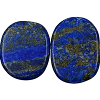 String Slabs Freeform, Lapis Lazuli AA frosted, appr. 25-28 x 34-40mm