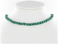 String Beads, Malachite (stab.), 04 - 05mm
