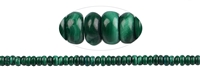 String Button, Malachite (stab.), 03 x 06mm