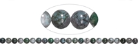 String Beads, moss agate, 08mm