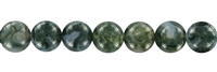 String Beads, Moss Agate, 10mm