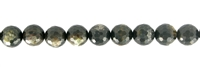 String Beads, Muskovite Mica (stab.), faceted, 10mm