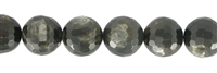 String Beads, Muscovite Mica (stab.), faceted, 12mm