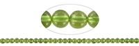 String Beads, Peridote A, 05mm