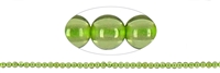 String Beads, Peridot A+/A, 02,25mm