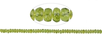 Strang Button, Peridot facettiert, 03 x 05mm
