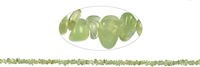 String Chips, Prehnite, appr. 01-03 x 03-08mm, appr. 88cm