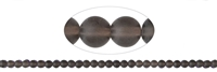 String Beads, Smoky Quartz, frosted, 06mm (39cm)