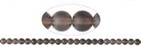 String beads, Smoky quarz, matt, 08mm