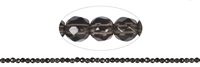 String Beads Smoky Quartz, faceted, 04mm