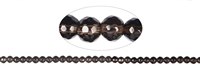 String Beads, Smoky Quartz, faceted, 06mm