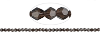 String Spindle, Smoky Quartz, facted, 06mm