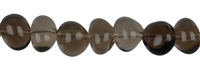 String Chips rounded, Smoky Quartz, appr. 10-12mm