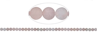 String Beads, Rose Quartz, frosted, 06mm (39 cm)