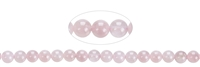 String Beads, Rose Quartz A+ (semi-transparent), 06mm