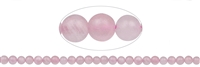 String Beads, Rose Quartz, frosted, 08mm