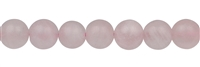 String Beads, Rose Quartz, frosted, 10mm (39cm)