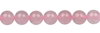String Beads, Rose Quartz (colourfully waxed - not fading!), 10mm