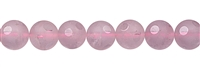 "String Beads ""Windows"", Rose Quartz A, 10mm"