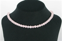 "String Beads ""Windows"", Rose Quartz A, 06mm"