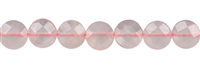 String Disc, Rose Quartz, faceted, 10mm
