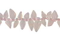 String Leave, Rose Quartz, appr. 14-16 x 24-30mm