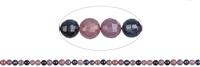 String Beads, Sappphire/Ruby, faceted, 05mm