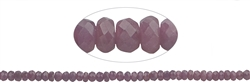 Strang Button, Rubin A, facettiert, 03 x 05mm