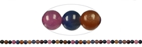 String Beads, Sapphire/Ruby, 04mm