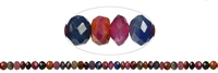 String Button, Saphire/Ruby, faceted, appr. 04 x 06mm