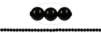 String Beads, Tourmaline black (stab.), 06mm