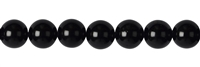 String Beads, Tourmaline black (stab.), 12mm