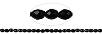 String Beads, Turmaline black (stab.), facetted, 08 x 06mm