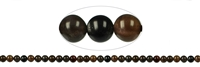 String Beads, Scapolite brown (cat's eye), appr. 06mm