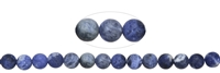 String Beads, Sodalite, frosted, 08mm