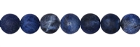 String Beads, Sodalite, frosted, 10mm