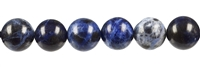 String Beads, Sodalite, 16mm
