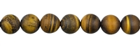 String Beads, Tiger's Eye, frosted, 10mm