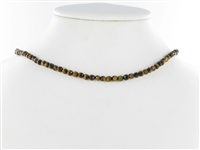 String Beads, Tiger's Eye, faceted, 04mm