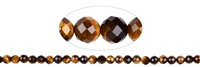 String Beads, Tiger#s Eye, faceted, 06mm