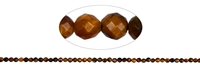 String Beads, Tiger's Eye, faceted, 02mm