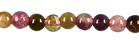 String Beads, Tourmaline (mixed colours), 03mm