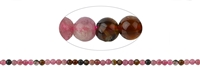 String Beads, Tourmaline (mixed colours/pink), 04mm
