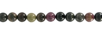 String Beads, Tourmaline (multicolour), 09mm