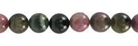 String Beads, Tourmaline (mulitcolour), 10mm
