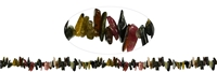 String Chips, Tourmaline (multicolour), appr. 02-04 x 10-20mm