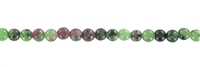 String Beads, Zoisite with Ruby, 03mm