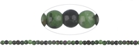String Beads, Zoisite with Ruby, 04mm