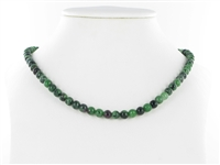 String Beads, Zoisite with Ruby, 06mm