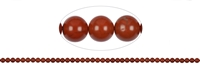 String Beads, Jasper (red), 04mm